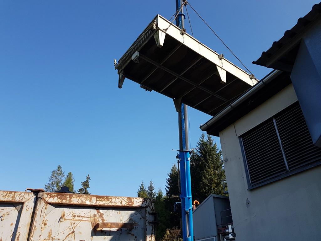 Demontage einer 1,5 MW Gasturbinenanlage 11