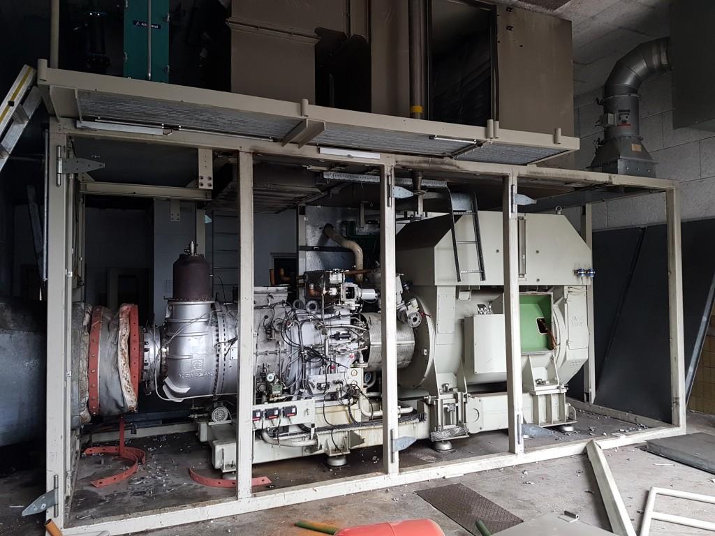 Demontage einer 1,5 MW Gasturbinenanlage 03