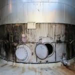 Demontage 130m³ Niro Lagertank 03