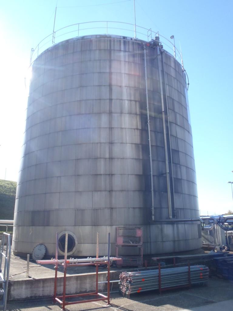 Demontage 2500m³ Lagertank 01
