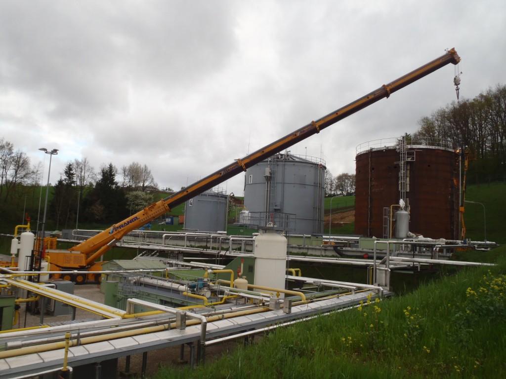 Demontage 2500m³ Lagertank 05
