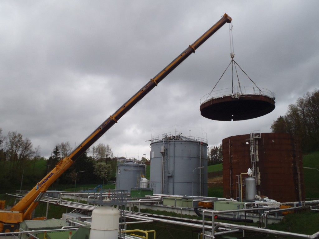 Demontage 2500m³ Lagertank 07
