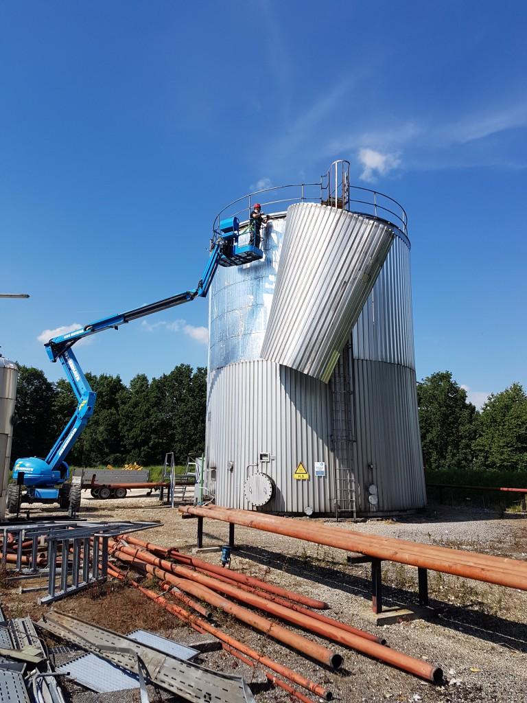 Demontage 500m³ Lagertank 02